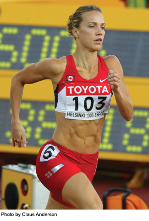 Canadian heptathlete Jessica Zelinka: 5th in Beijing Olympics, 9th in Worlds this week - a best-ever for Canada