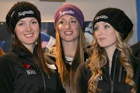 Maxime (l), Chloe, and Justine Dufour-Lapointe