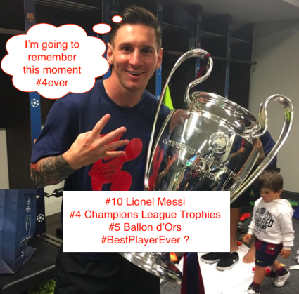 Messi 4th Champions League trophy